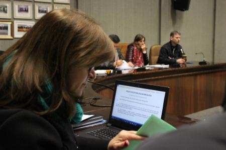 Reunião foi conduzida pela presidente da Comissão de Justiça e Redação, vereadora Neca Dalmoro (PDT)